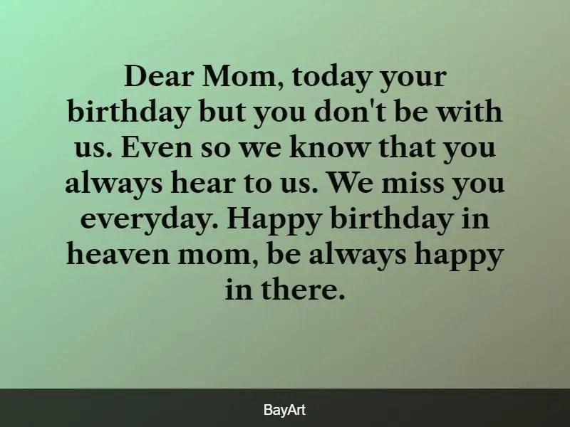 happy heavenly birthday mom