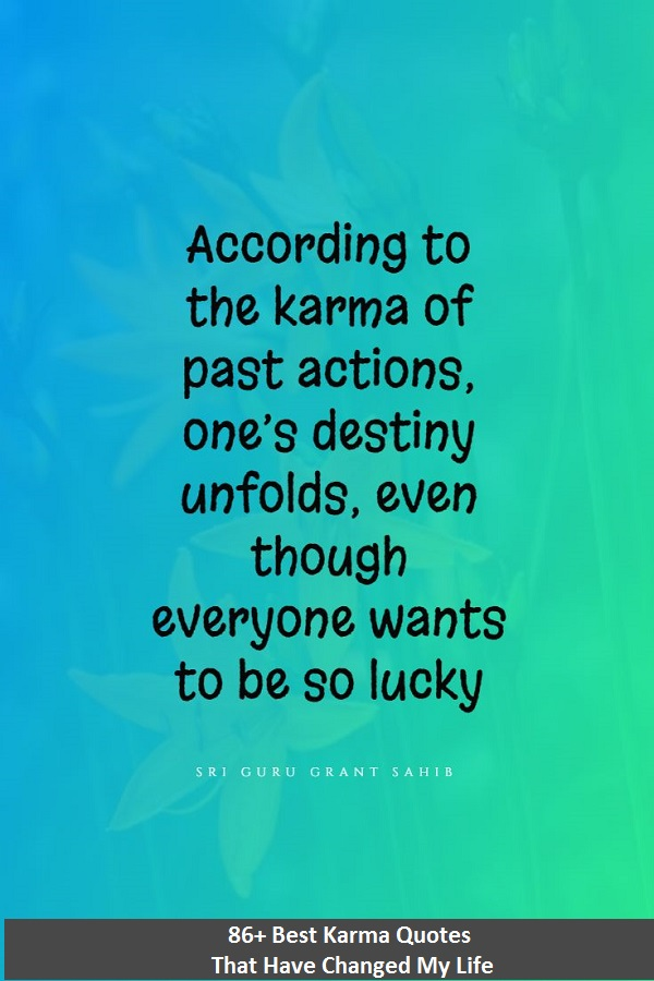 most famous quotes and sayings about karma