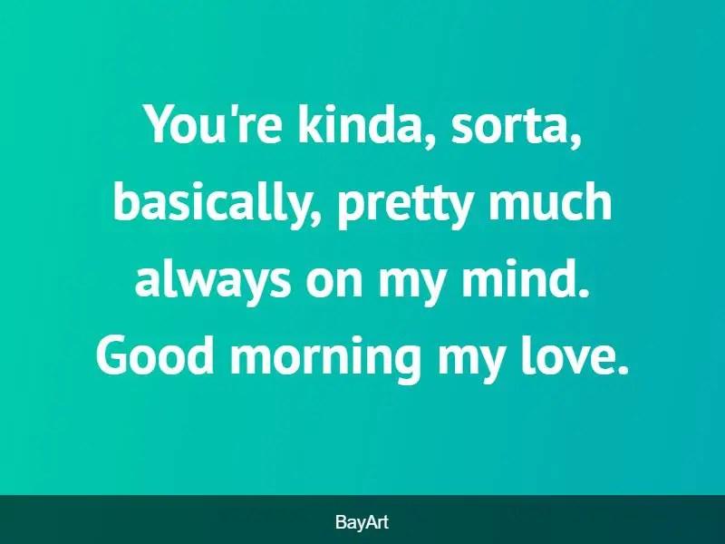 good morning my queen