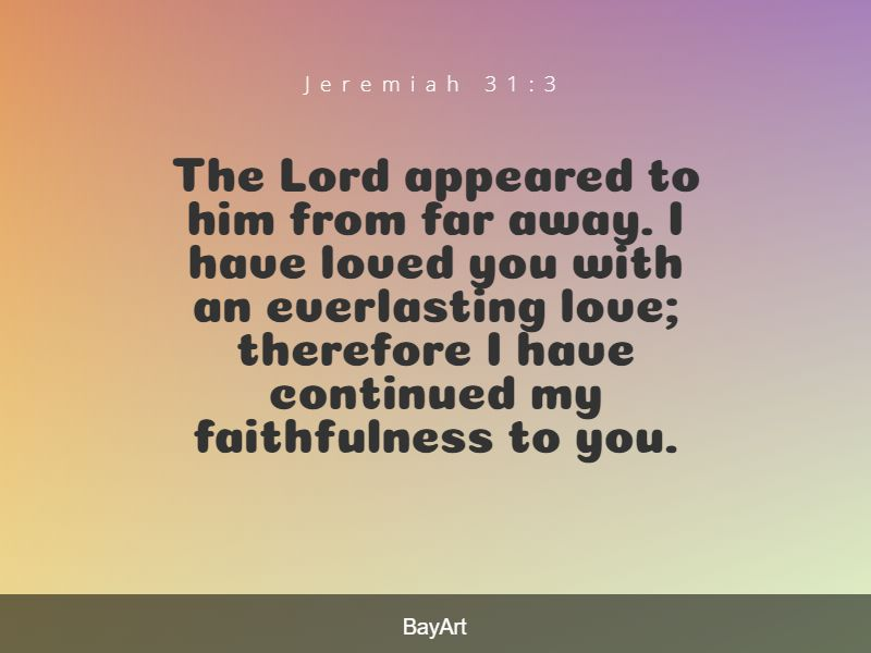 great Bible verses about God's love