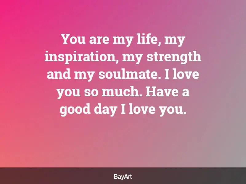 romantic good morning message
