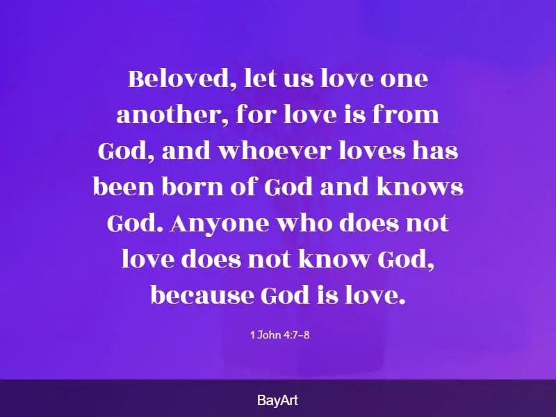 scriptures on God's love