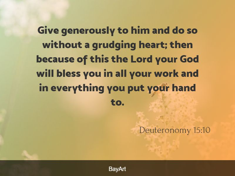 Bible quotes about giving