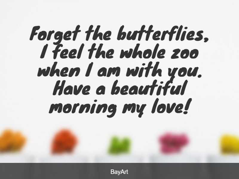 cute good morning love message for him