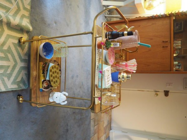 Decorating My Bar Cart….