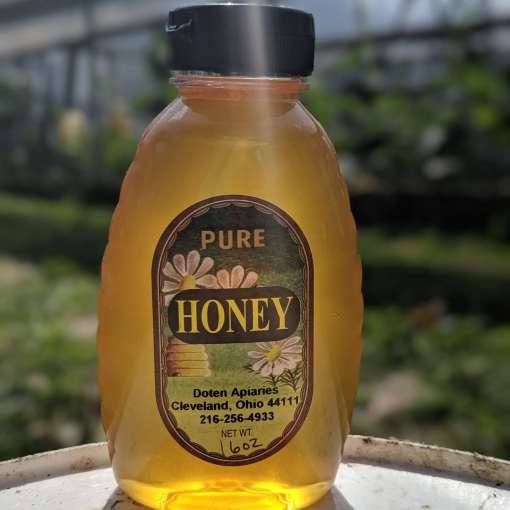 spring bottle of honey