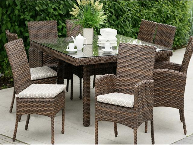 ratana portfino dining table chairs