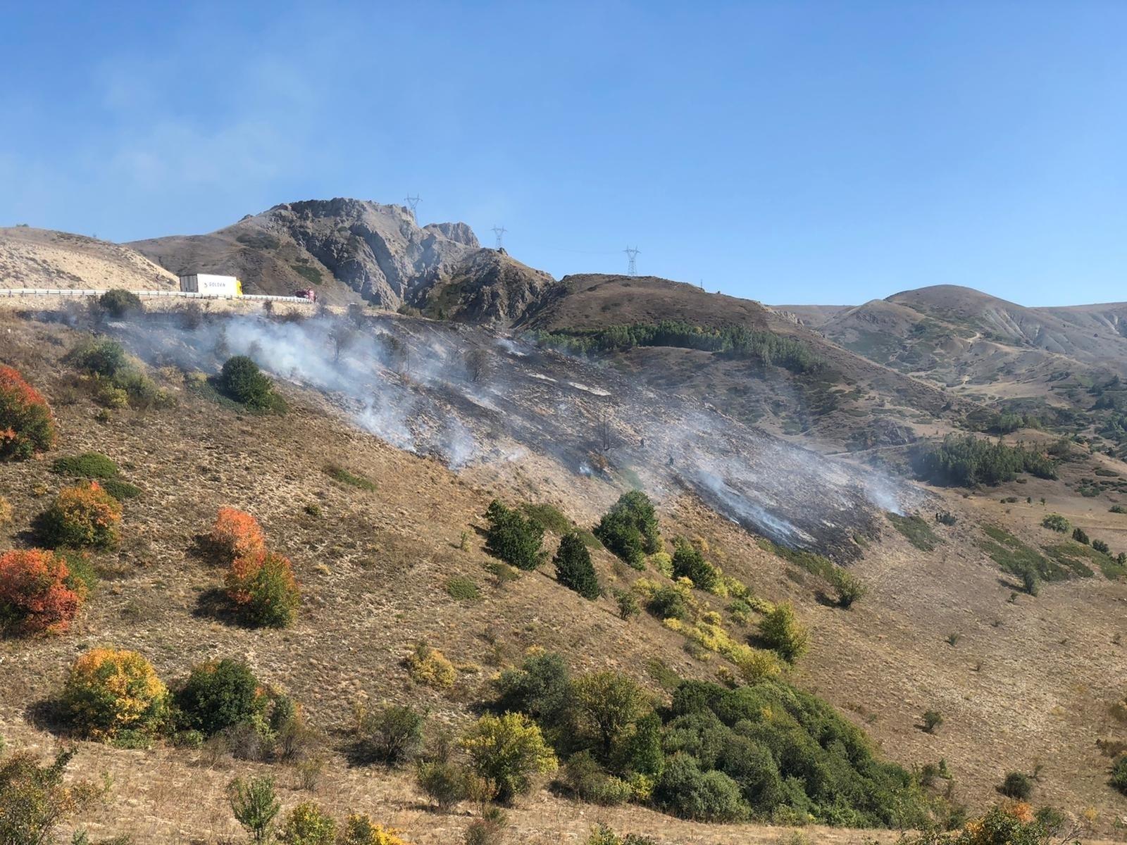 Kop Dağı'nda çıkan örtü yangını kontrol altına alındı