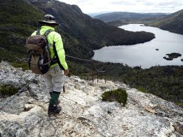 Stan on Cradle Mountain above Dove Lake
