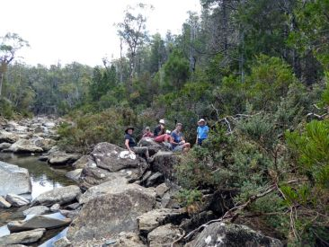 Elizabeth, Bob, Denise, Heather and Susan in Apsley Gorge, Douglas-Apsley National Park