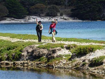 Helen and Joan on Maria Island