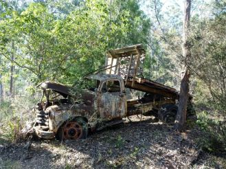 The old flatbed truck