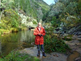 Bob at Micalong Creek swimming hole