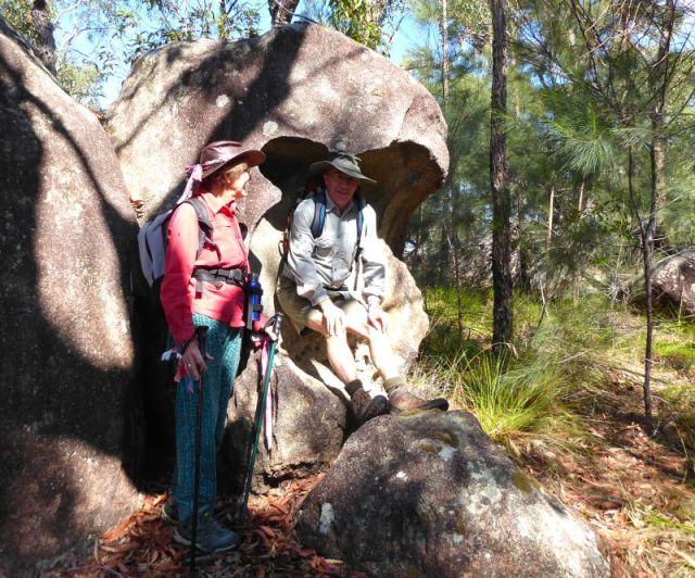 Tent erosion of granite boulder