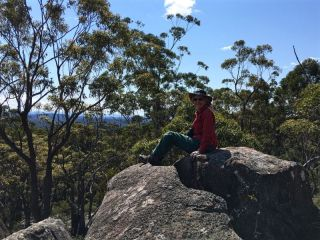 Betty on rocky outcrop 2