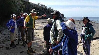 Volunteer geological guide Phil
