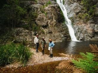 Brian, Martin, David at Waterfall No 3