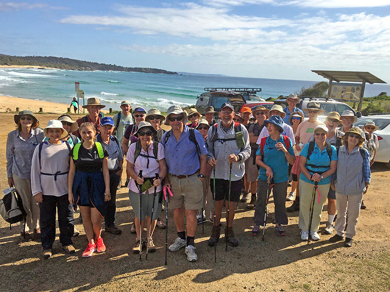 Group at Bingie Point at the start of the walk