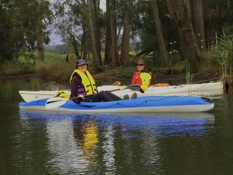 Karen & Ian exploring a backwater of the Tuross River