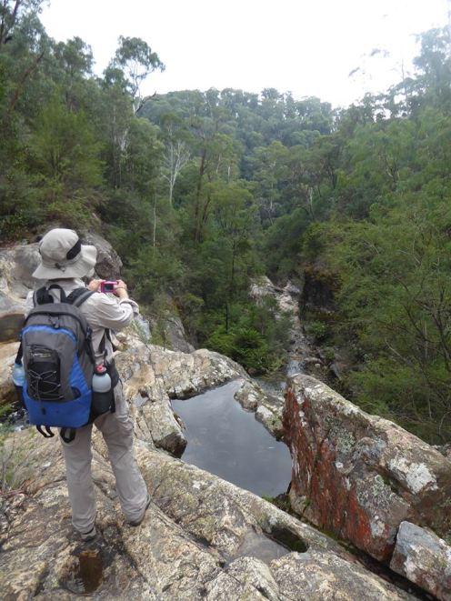Helen at Upper Rollasons Falls