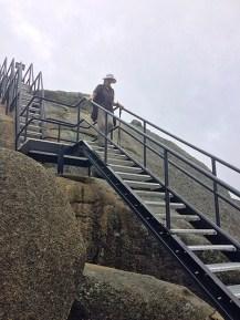 Karen on the ladders of Mt Dunn