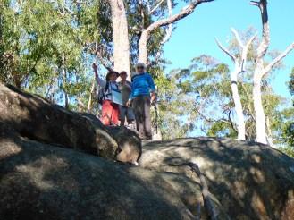 Leader Betty, Martin and Sharon near Monkey Rock.