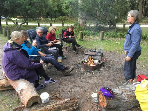 Camp fire and stories.