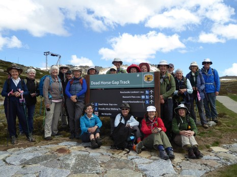 The group starting out on our first walk to Dead Horse Gap.