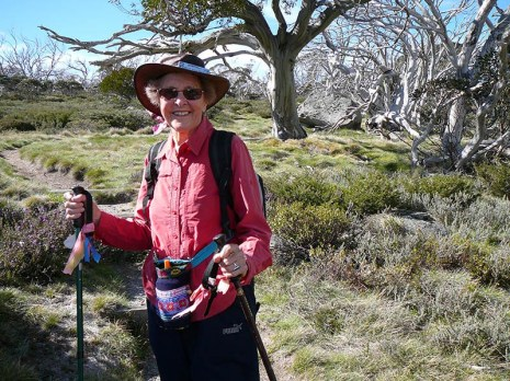 Leader Betty on the ascent to Porcupine Rocks.