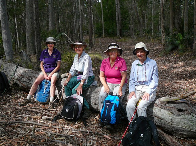 Heather, Betty, Pat and Susan enjoy a morning tea break.