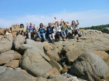 The group enjoying Mullimburra rocks.