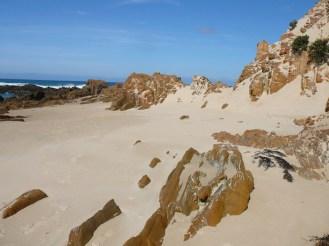 Sand swept rocks