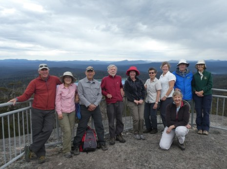 Brian, Chris, Tom, Geoff, Elizabeth, Glenn, Gay, Jim, Karen M on Genoa Peak