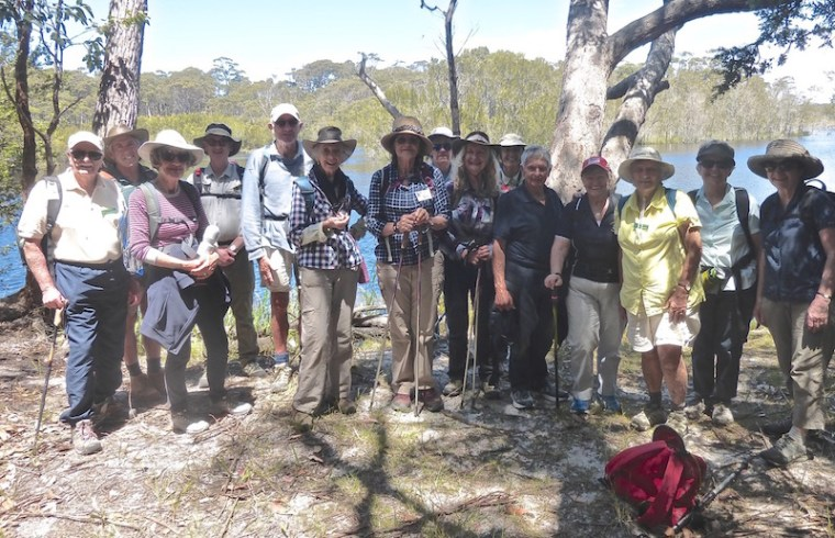 Bushwalkers enjoying the walk