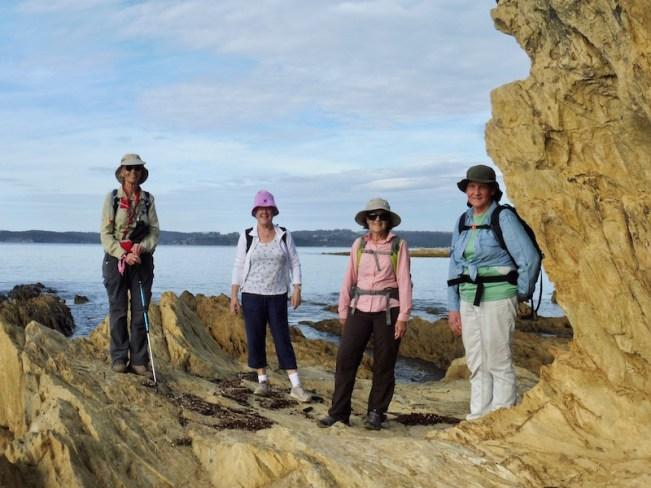 Mary, Niahm, Chris, Wendy at Maloneys Beach