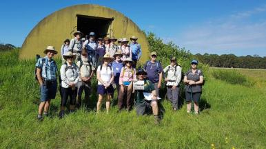The Group in front of the Moruya Racecourse bunker