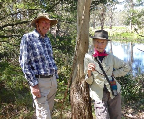 2014 Ever the elegant bushwalker, with Rodney on Pig Road