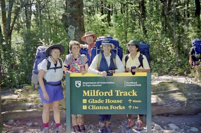 1996 With Ainslie, Betty, Mike and Pat on the Milford Track in New Zealand