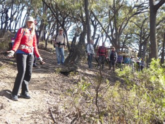 The group leaving the Big Hole