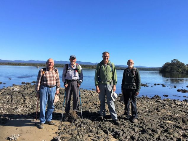 Ian, Bob, Rob and Stan on the shores of Tuross Lake