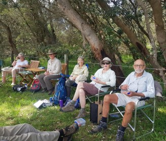 Gillian, Kaye, Mary, Mary and Stan - but alas, no lunchtime log!
