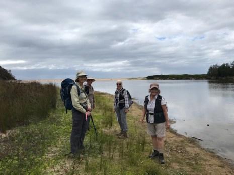 Mary, Karen, Sharon and Pat beside Meroo Lake