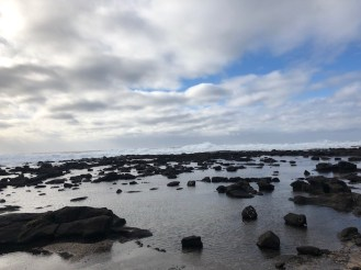 Normally at low tide, you can walk on these rocks