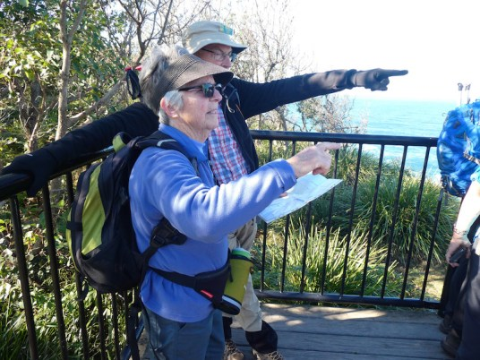Leader, Jill and Rodney trying to spot the whales