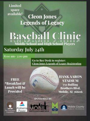 City Of Mobile Hosting Baseball Clinic