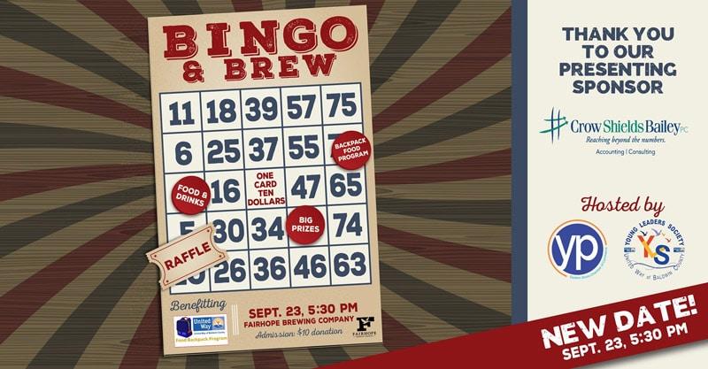 Bingo & Brew Rescheduled