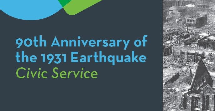 90th Anniversary of the 1931 Earthquake Civic Service