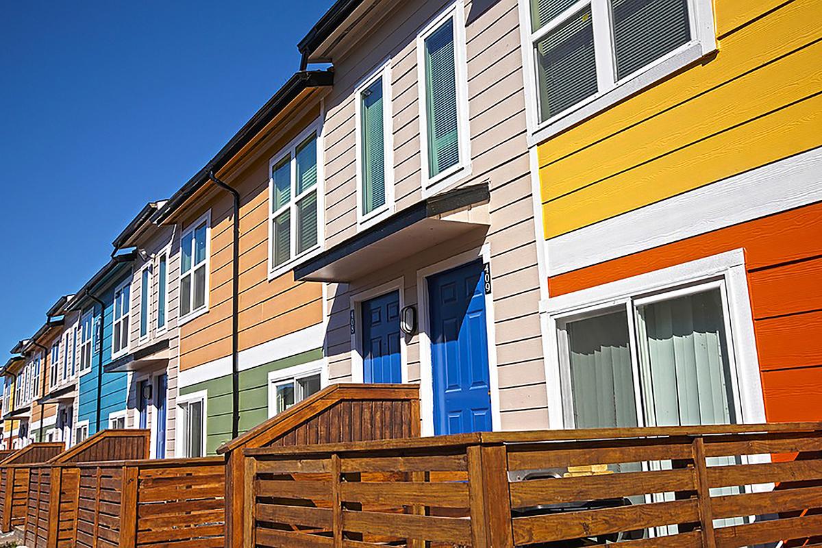 Bright Colors Blue Doors Houston Tx Apartments