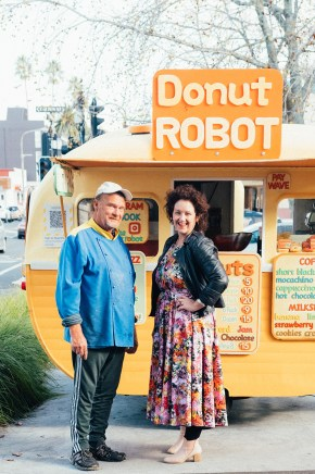 Colour, sugar and Steve's cheeky charm combine at Tennyson Street's Donut Robot. Photo: Florence Charvin