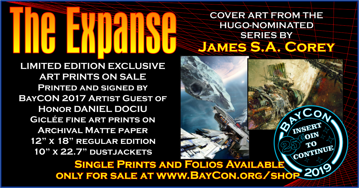 James S A Corey S The Expanse Book Cover Prints On Sale Baycon